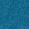 Seamless pattern. Computer circuit board. Royalty Free Stock Photo