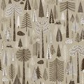 Seamless pattern of coniferous forest