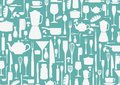 Seamless pattern with cooking icons background illustration of Stock Image
