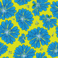 Seamless pattern cornflower flowers blue Stock Image