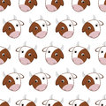 Seamless pattern of cows Royalty Free Stock Photo