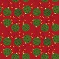 Seamless pattern of Creative Christmas balls Royalty Free Stock Photo