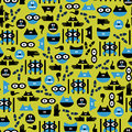 Seamless pattern with criminals Royalty Free Stock Photography