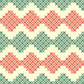 Seamless pattern with crosses in vector Royalty Free Stock Photography