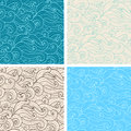 Seamless pattern with curl vector vintage hand drawn wavy Royalty Free Stock Photography