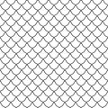 Seamless pattern of curved lines. Unusual lattice. Geometric bac