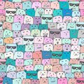 Seamless pattern with cute bear background, Cute bear doodle art for kids.