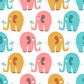 Seamless pattern with cute colorful elephants animals Royalty Free Stock Photography