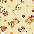 Seamless pattern cute dog texture background Stock Images