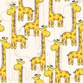 Seamless pattern cute hand drawn with giraffe Stock Image