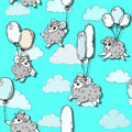 Seamless Pattern With Cute Lam...