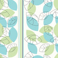 Seamless pattern with cute leaves Royalty Free Stock Photos