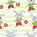 Seamless pattern with cute littel rabbit. hand drawn vector illustration