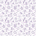 Seamless pattern for cute little boys and girls. Hand drawn children drawings. Sketch style. Doodle children drawing background Royalty Free Stock Photo