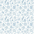Seamless pattern for cute little boys and girls. Sketch style. Hand drawn children drawings. Doodle children drawing background Royalty Free Stock Photo