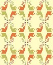 Seamless pattern with cute monsters Royalty Free Stock Photography