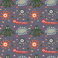 Seamless  pattern with cute monsters Royalty Free Stock Photos