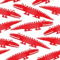 stock image of  Seamless pattern with cute crocodiles