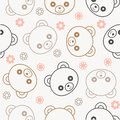 Seamless pattern cute teddy bear for use as wallpaper or Christmas wrapping paper gift