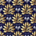 Seamless pattern with damask flowers Royalty Free Stock Photo