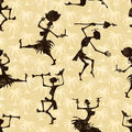 Seamless pattern with dancing people vector illustration eps grunge effect can be cleaned easily Royalty Free Stock Photo