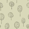 Seamless pattern with deciduous trees green Royalty Free Stock Photography