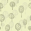 Seamless pattern with deciduous trees green Stock Photography