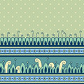Seamless pattern with decorative border vector illustration Royalty Free Stock Photo