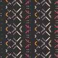 Seamless pattern - decorative embroidery with geometrical drawing.