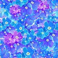 Seamless pattern with decorative flovers vector exotic Royalty Free Stock Photography