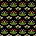 Seamless pattern with decorative flowers Royalty Free Stock Photos