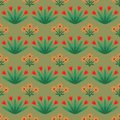 Seamless pattern with decorative flowers Stock Images
