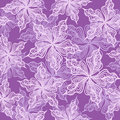 Seamless pattern with decorative flowers violet floral background colorful vector illustration Royalty Free Stock Images