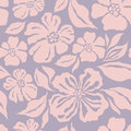 Seamless pattern with decorative ornamental flower flowers and leaves vector illustration Stock Image