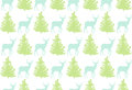 Seamless Pattern With A Deer A...