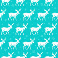 Seamless pattern with deers christmas background for winter holidays vector illustration Royalty Free Stock Image