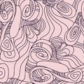 Seamless Pattern with Deformed Circles. Hand Drawn Abstract Background.