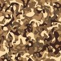 Seamless pattern. Desert army camouflage
