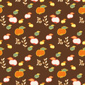 Seamless Pattern for Design. Apples Royalty Free Stock Photo