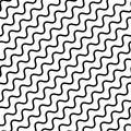 Seamless pattern, diagonal wavy lines.