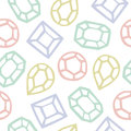 Seamless pattern of diamond shape cartoon illustration background Royalty Free Stock Images