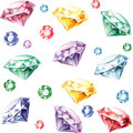 Seamless pattern from diamonds Royalty Free Stock Image