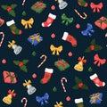 Seamless pattern Christmas / New Year seamless pattern
