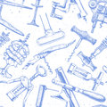 Seamless pattern with different corkscrews