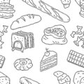 Vector background of confectionery products