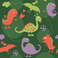 Seamless pattern, dinosaur Royalty Free Stock Photography