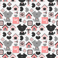 Seamless pattern with dogs cute Royalty Free Stock Images