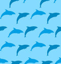 Seamless Pattern With Dolphin,...