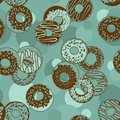 Seamless pattern of donuts tasty Royalty Free Stock Image