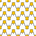 Seamless pattern with doodle crowns. Cute baby background for printing on textile, fabric, surfaces, patchwork, scrap-booking.